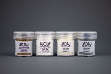 WOW! Set of 4 Ultra High Embossing Powders